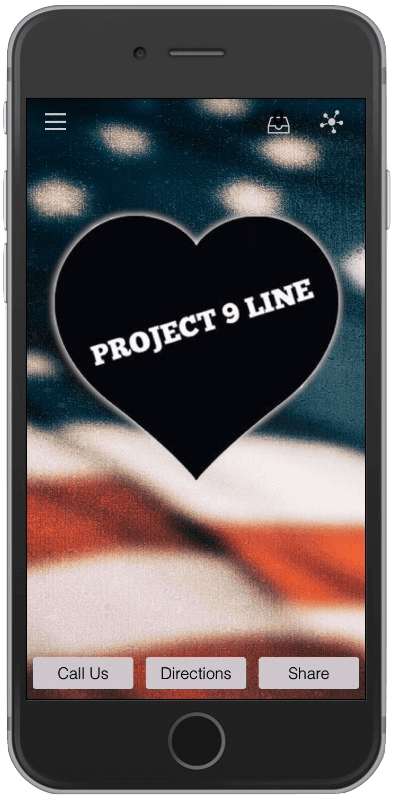 Project 9 Line Mobile App Image