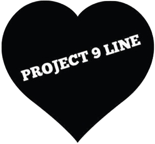 Project 9 Line Heart Logo